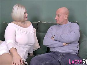 breast banging british grandma