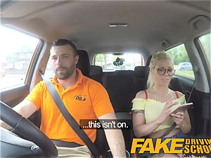 fake Driving college phat tits ash-blonde gets poked