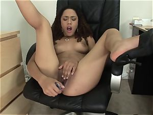 insane petite Mimi Allen plays with her cooch