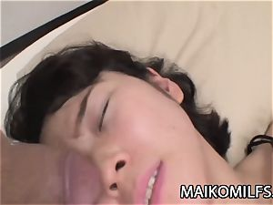 Chiharu Kogure - hairless coochie Nippon mother Creampied