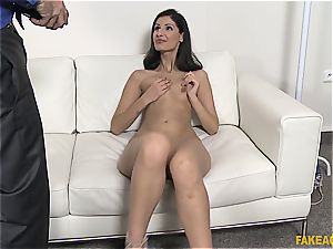 Coco kiss takes a thick spunk-pump for a casting