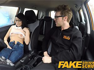 faux Driving school half asian lil' schoolgirl fucks