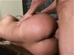 blond Shyla Stylez is antsy for a load of cum after a nailing