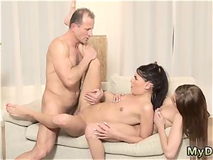 older girl rectal and phat bap nubile fellow mom s two crony s daughters getting nasty in her