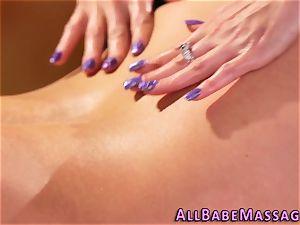 huge-chested mummy eats masseur