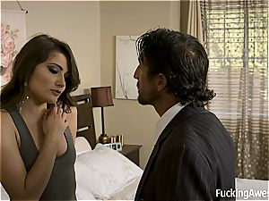 Adria Rae gets her tight bootie punished for her crimes