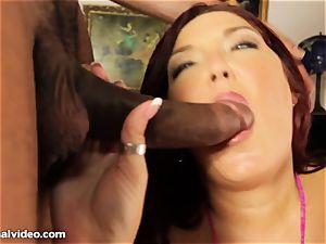 hefty girl fellate black sausage