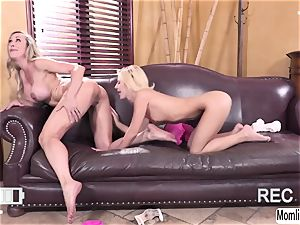 Brandi love and Bella Rose gets filmed while having hook-up