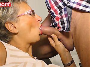 German grandma luvs romping her Neighbor #LETSDOEIT