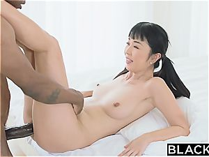 For chinese journalist Marika this is going to be a test for her vagina and skills