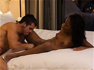 eating out black hotty Ashley rosy in hotel apartment