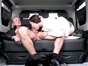 boinked IN TRAFFIC - super-fucking-hot Czech small gets banged in car