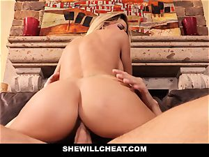 cuckold husband witnesses Wifes twat Get wrecked