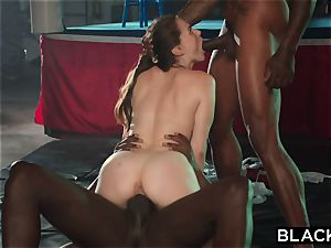 BLACKED Tori ebony Is greased Up And dominated By 2 BBCs