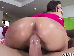 wild messy female draining Nina North gets used and d