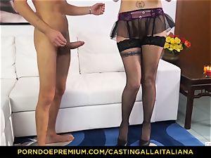casting ALLA ITALIANA - Blue-eyed lady gets booty nailed