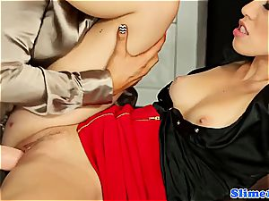 super-sexy Jenna nice and Tiffany nymph gets weird for mass ejaculation