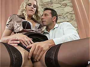 porked in his intimate office