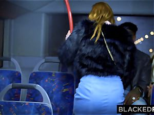 BLACKEDRAW two cuties penetrate hefty bbc On Bus!