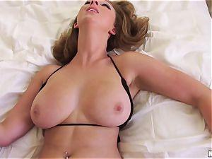 huge-boobed babe Brooke Wylde luvs to drill pov