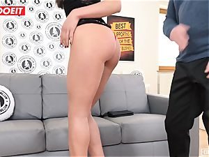 LETSDOEIT - brown-haired nubile nailed in Both holes casting