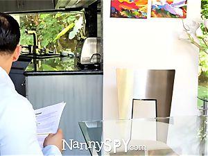 NannySpy asian sitter Jade Kush rubdown penetrated