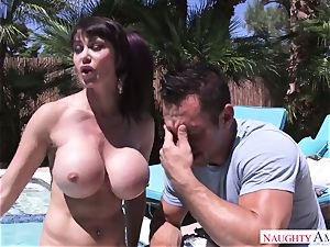 cool mother with mega boobies wants to get her donk plumbing by her stepson