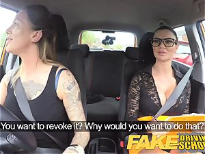 fake Driving school fresh driver gets a crash course