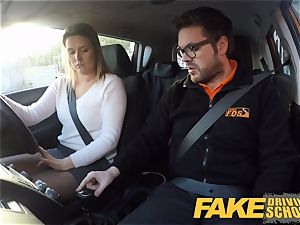 fake Driving college Czech stunner Nikky dream climaxes