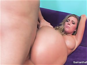 Samantha Saint gets her tight pinkish gash boinked