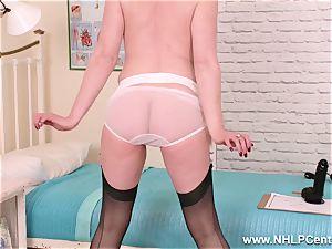 mummy Nurse humps immense ebony plaything in fantastic nylons stilettos