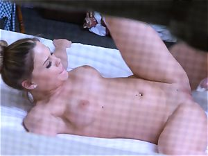 Brianna chocolate-colored caught on spy webcam as she ravages