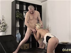 German old gang-fuck She is so wonderful in this brief miniskirt
