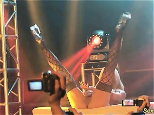 buxomy mummy lapdance on stage