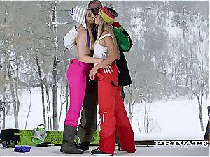 Frosty fun for trio in the Alpine hut
