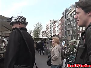 Longhaired dutch call girl gets pounded
