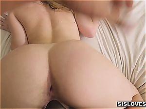 torrid Jayden provokes her stepbro with her edible backside