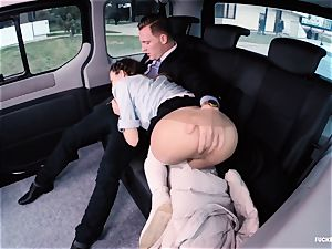 humped IN TRAFFIC college nymph gets ravaged by driver