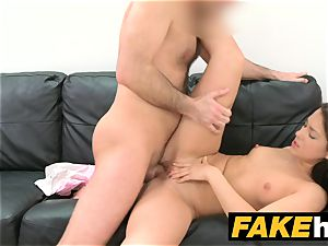 fake Agent Russian stunner luvs to deep throat massive bone
