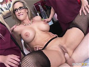 Rock rigid patient gets plowed by physician Brandi love