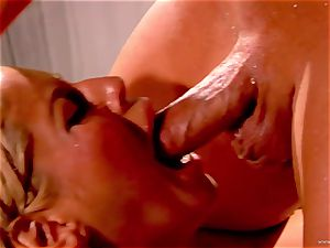 Bridgette B takes this rock-hard lollipop deep in her moist fuck-hole