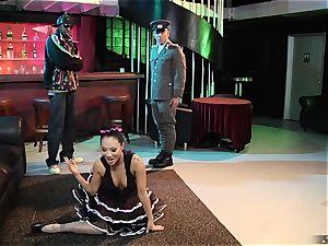 bi-racial pornography with chinese pornography star Asa Akira, ebony dude and German in uniform