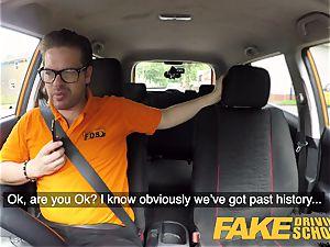 fake Driving college Barbie Sins filthy fellatio