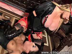 super-bitch Jessica Jaymes and Taylor Wane the domina