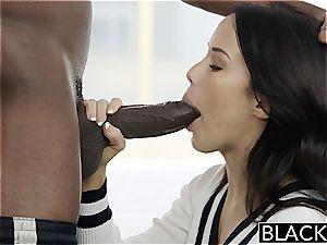 Megan Rain drilling a black manmeat