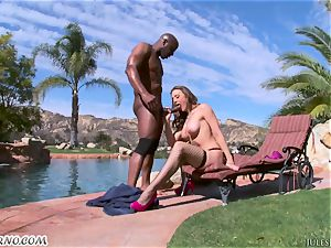 rock hard rectal plumbed with ebony bull and busty adult movie star Chanel Preston