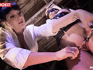 LETSDOEIT - brown-haired Maid enjoys bdsm tough torment