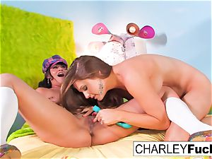 Charley pursue and Allison Moore play With Each Other
