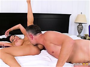Dissolute bitch-wife entices her neighbor while her spouse is sick in bed
