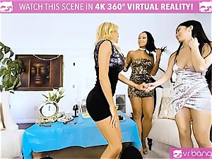 VR porn - Alexis Seducing Her mates to Have a super-fucking-hot hump